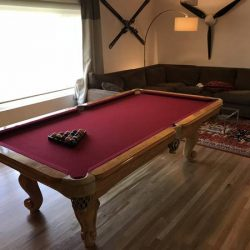 Beautiful Solid Teak Slate Pool Table 8' x 4'