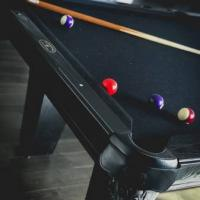 Black on Black Pool Table