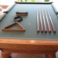 8' World of Leisure Solid Oak Pool Table