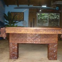 Hawaiian Flower Pool Table 9ft