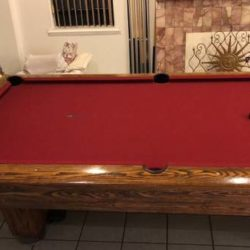 9' Slate Pool Table Good Condition