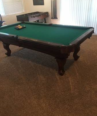 Wood Pool Table