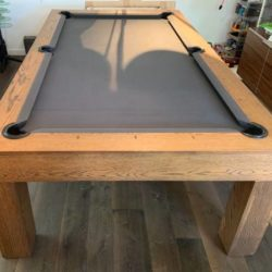 Custom Oak Pool Table