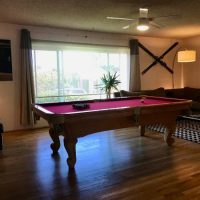 Beautiful Solid Teak Slate Pool Table 8' x 4' With Everything