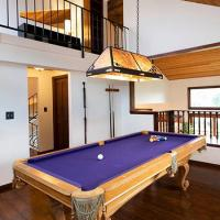 Pool Table with Hanging Light