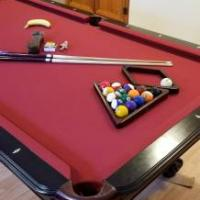 Pool Table, Full Size, Red