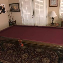 Beautiful Pool Table with Ping Pong Conversion
