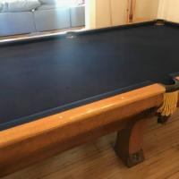 Brunswick Pfister 9ft Vintage Pool Table Celebrity Owned