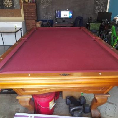 Pool Table Assembled