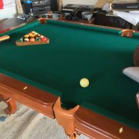 Beautiful Pool Table With Accessories For Sale